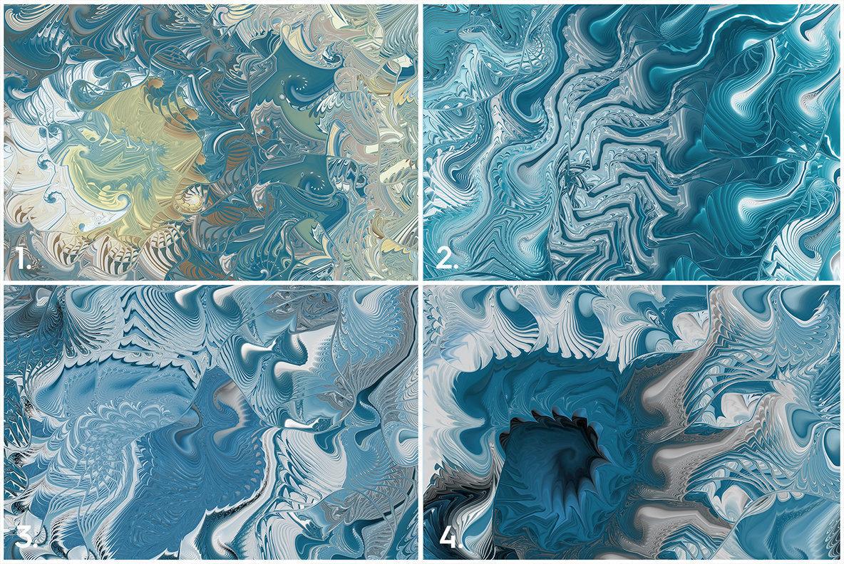10 Sea Swirls Backgrounds Textures