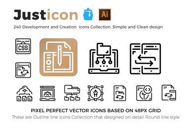 240 Development  Creation Icons