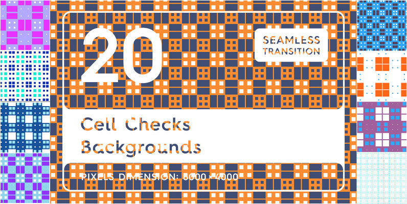 20 Cell Checks Backgrounds Textures