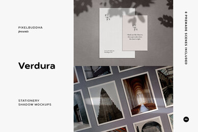 Verdura Stationery Shadow Mockups