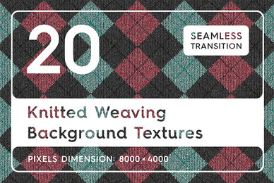 20 Knitted Weaving Background Textures