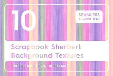 10 Scrapbook Sherbert Background Textures