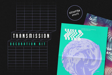 Transmission Warp Text Effects