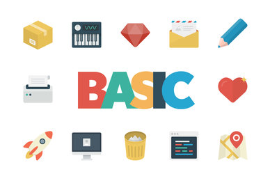 Basic Flat Icon Set