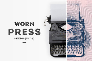 Worn Press Photoshop Effects Kit