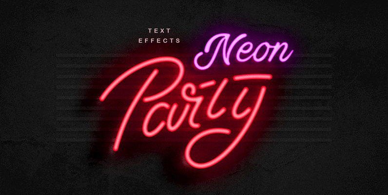 Neon Sign Photoshop Effect