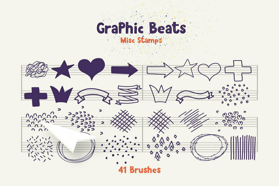 Graphic Beats Brushes for Photoshop