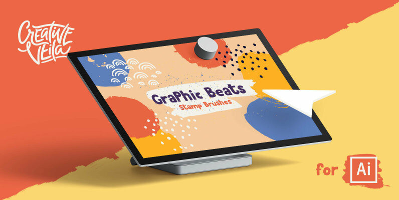 Graphic Beats Brushes for Illustrator