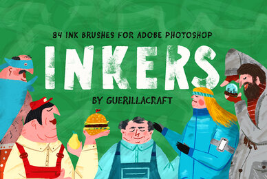Inkers   84 Ink Brushes for Adobe Photoshop