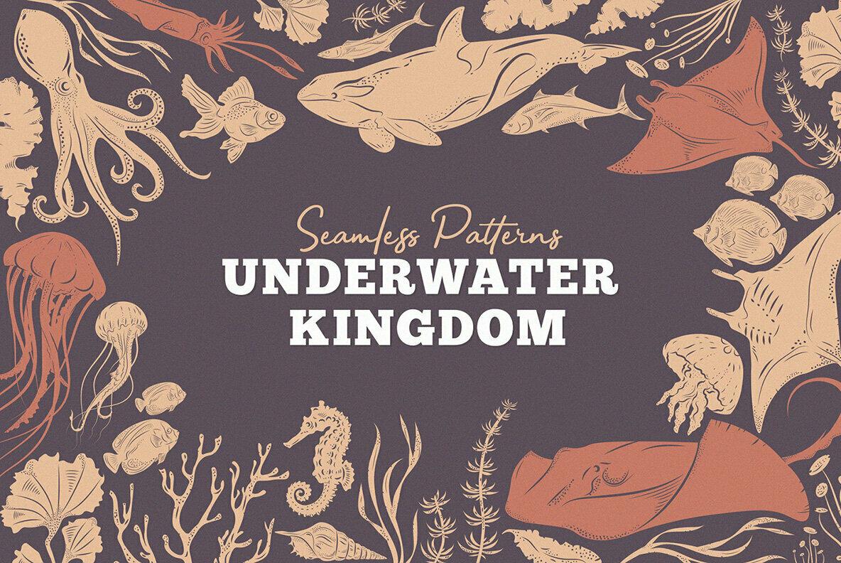 Underwater Kingdom Vector Patterns