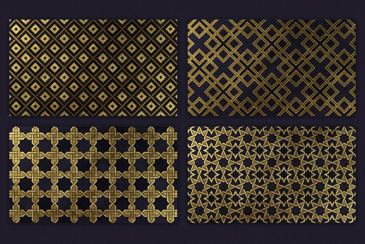 Oriental Backgrounds     200 Decorative Patterns