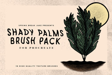Shady Palms Texture Brushes for Procreate