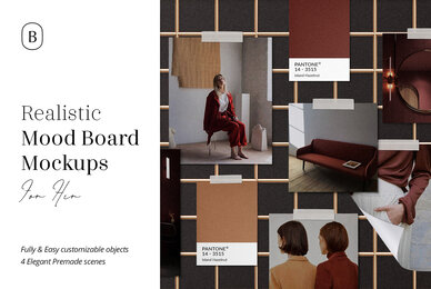 Realistic Mood Board Mockups Vol 2