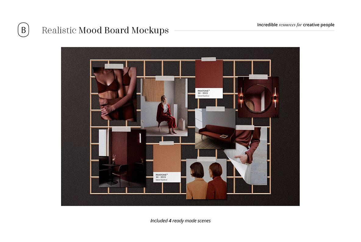 Realistic Mood Board Mockups Vol 2