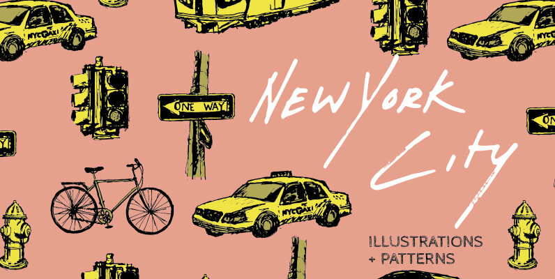 New York City Illustrations and Patterns