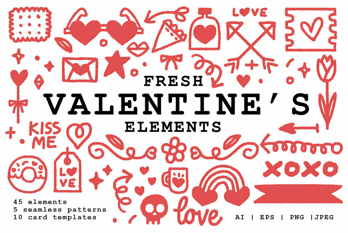 Fresh Valentine s Elements