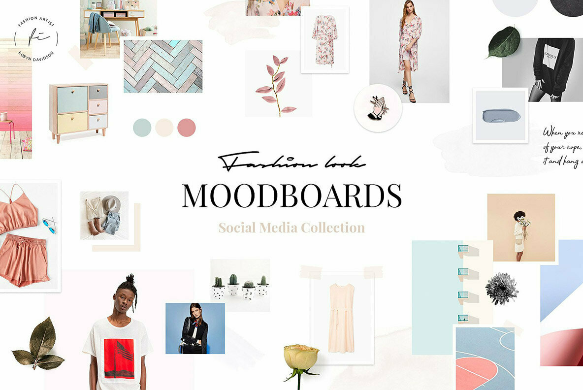 Fashion Mood Board Templates