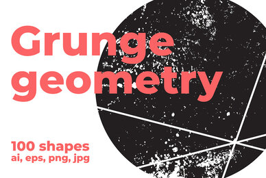 100 Grunge Geometry Shapes