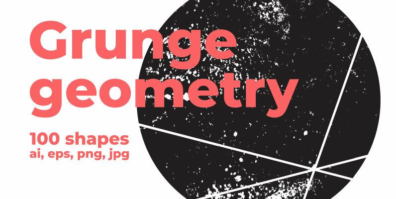 100 Grunge Geometry Shapes