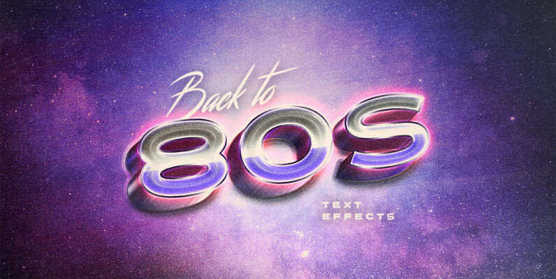 Back to the 80 s Retro Text Effects