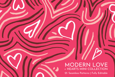 Modern Love Seamless Patterns