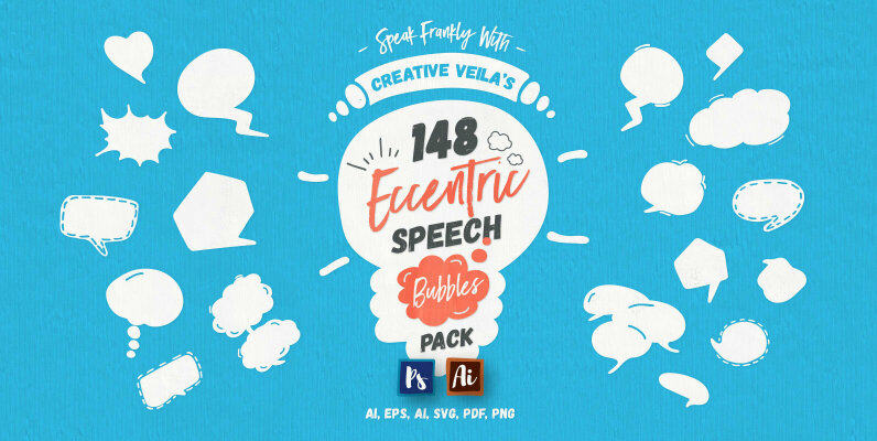 Eccentric Speech Bubbles Vector Pack