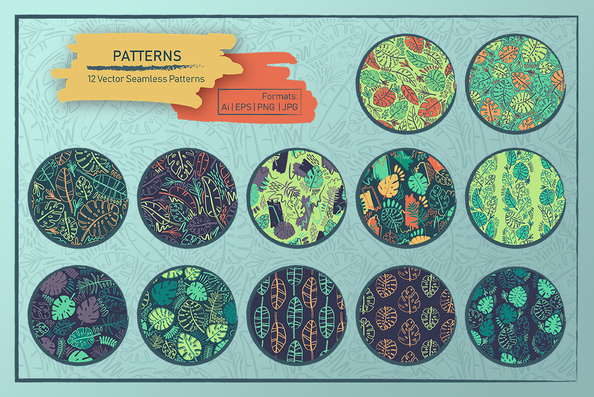 Crazy Tropics 12 Patterns Collection