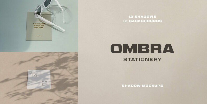 Ombra Stationery Shadow Mockups
