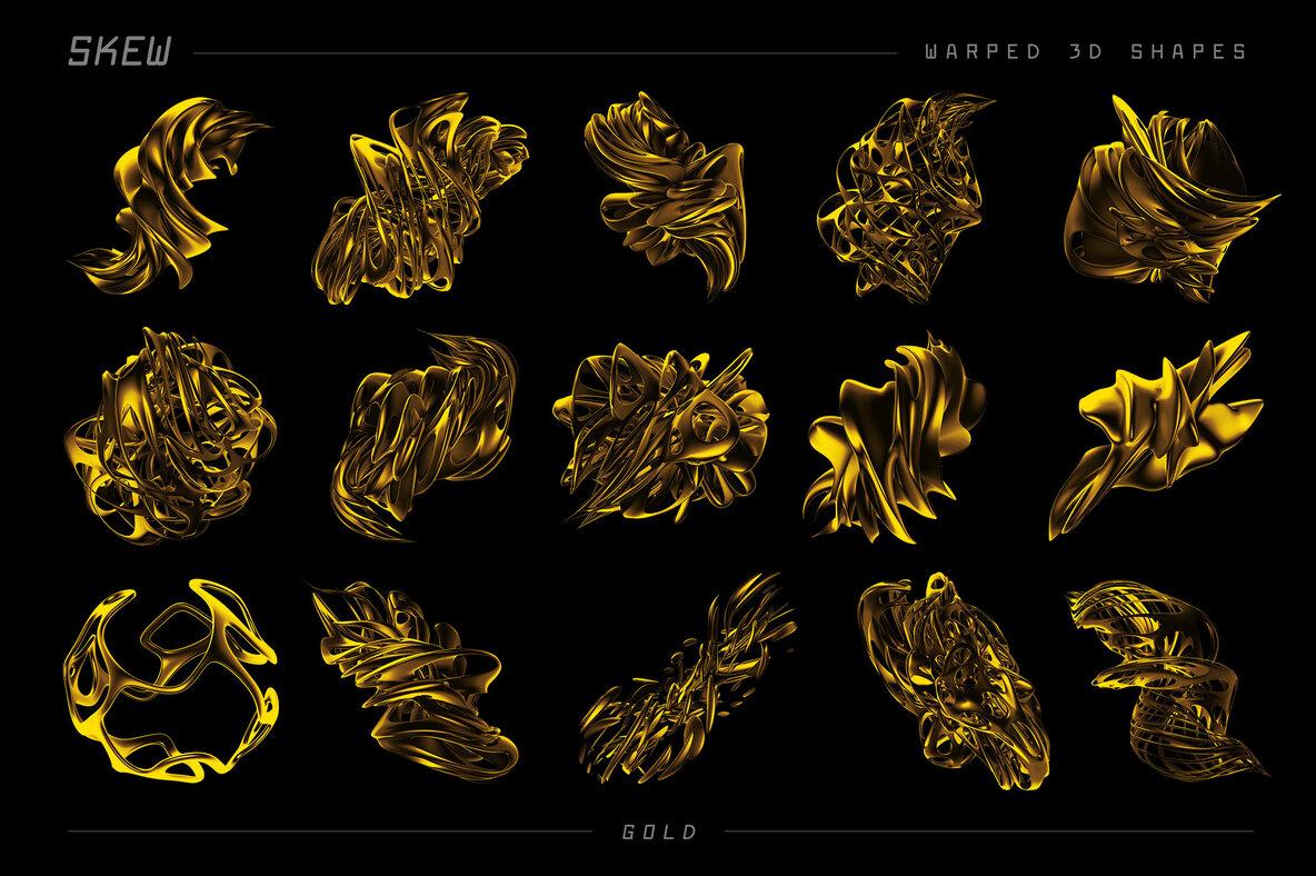 Skew   105 Warped 3D Shapes