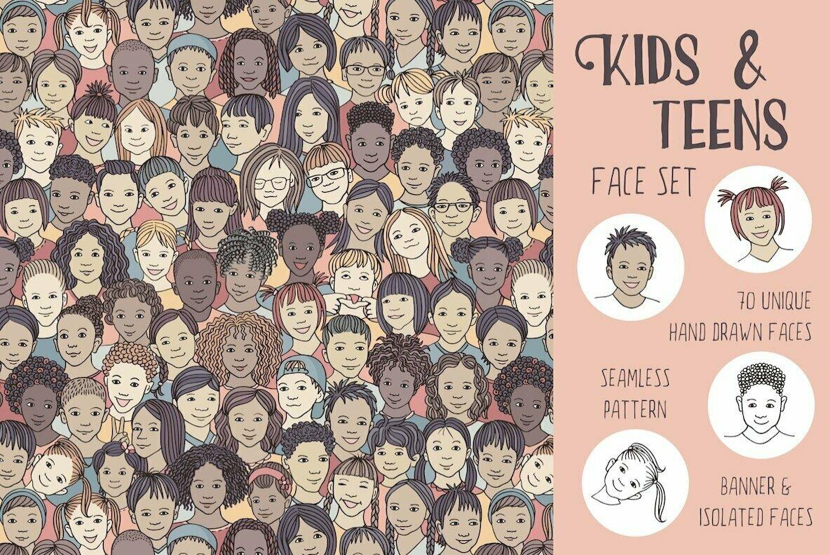 Kids   Teens Face Set