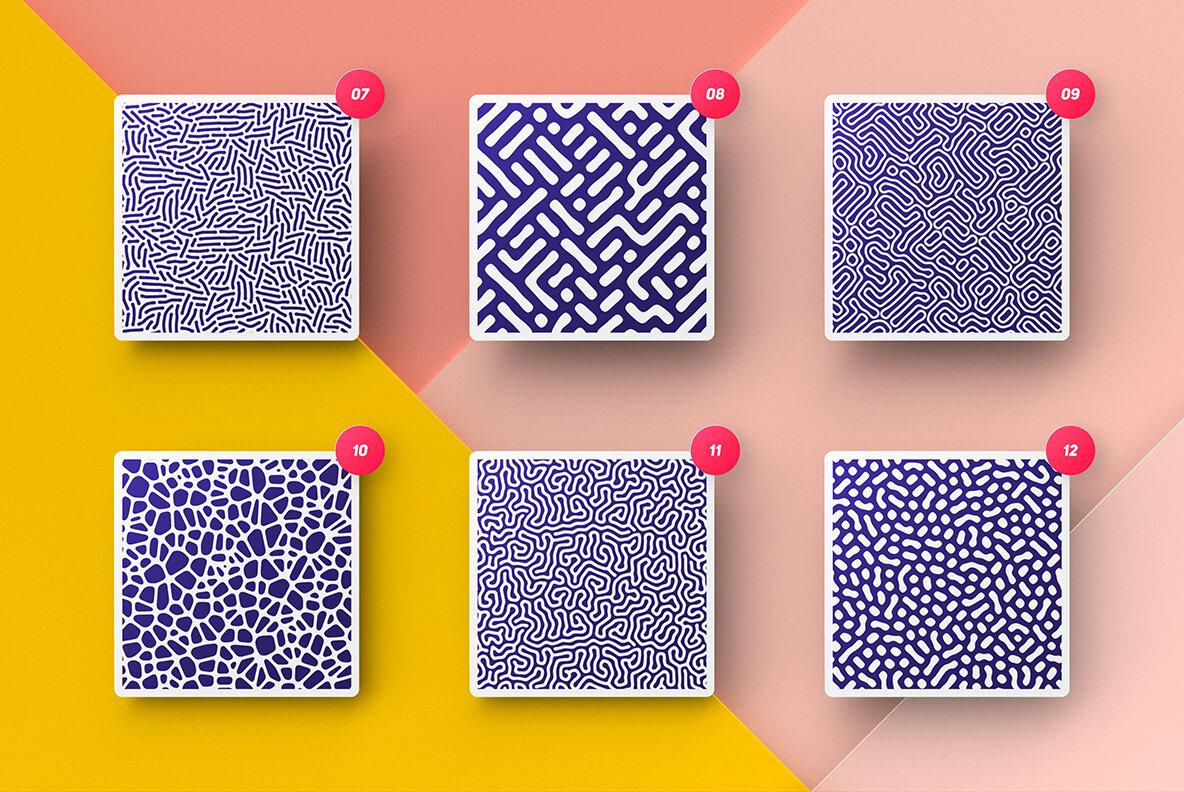 Organic Patterns     50 Trendy Seamless Textures