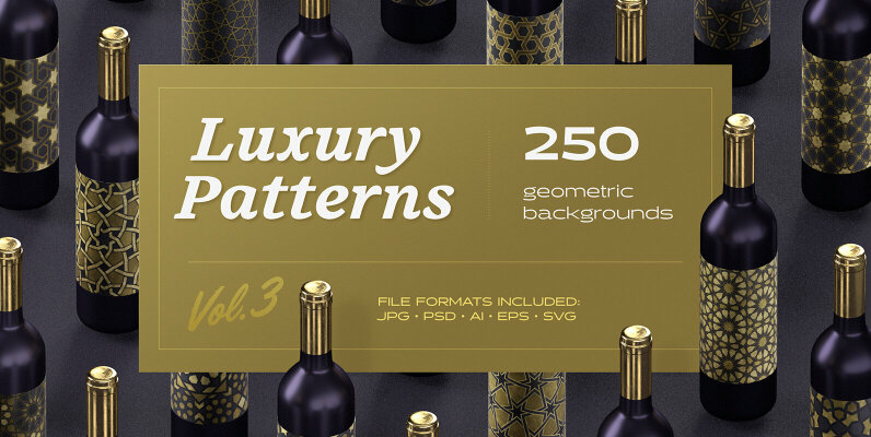 Luxury Patterns   250 Geometric Backgrounds Collection
