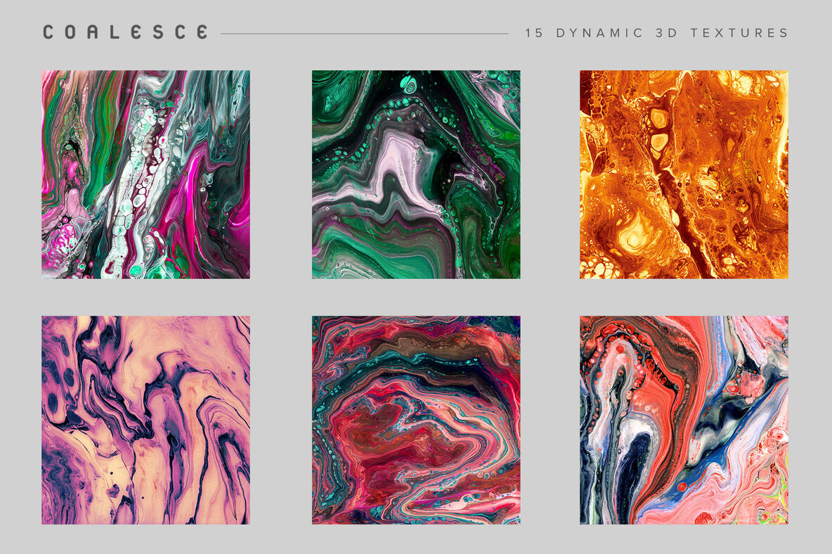 Coalesce   12 Abstract Paint Textures
