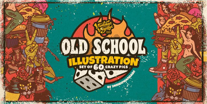 Old School Illustrations