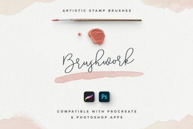 Brushwork for ProCreate  Photoshop
