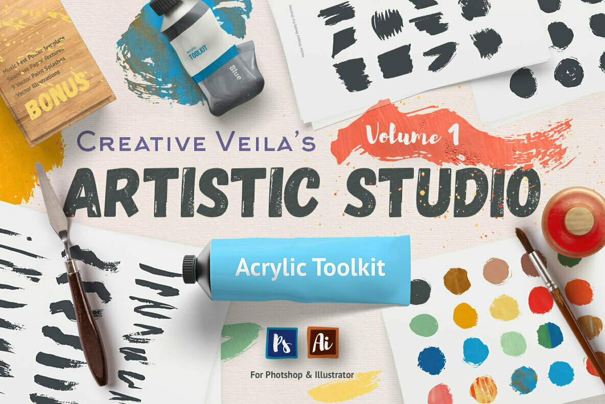 Artistic Studio Acrylic Toolkit