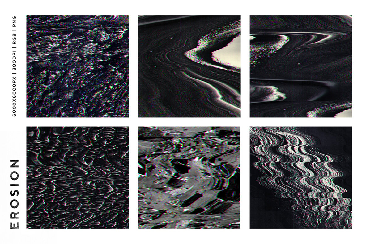 Erosion Video Glitch Distortion Textures