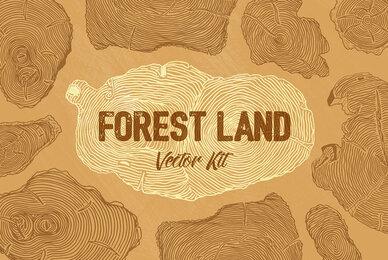 Forest Land Vector Kit