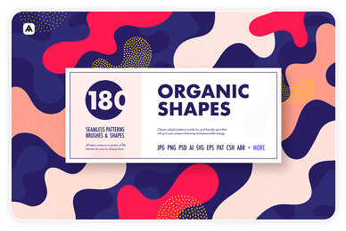 Organic Shapes     100 Seamless Textures