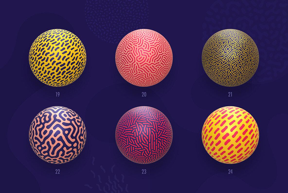 Organic Shapes     100 Seamless Textures