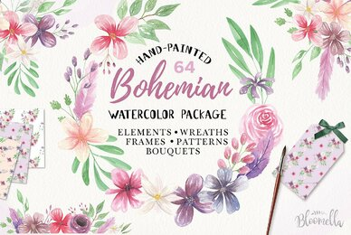 Bohemian Watercolor Package