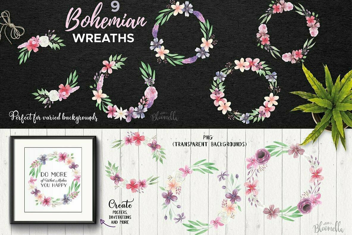 Bohemian Watercolor Package