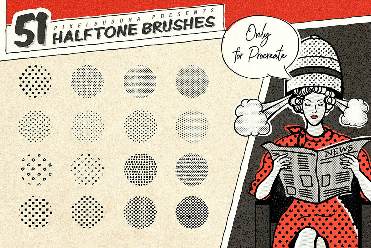 Vintage Comic Procreate Brushes