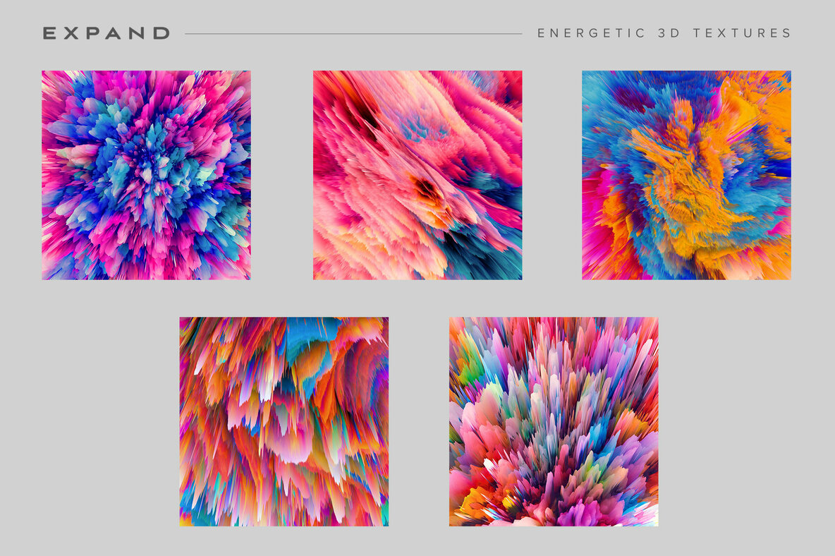 Expand   15 Energetic 3D Textures