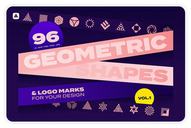 96 Geometric Shapes  Logo Marks Collection VOL 1