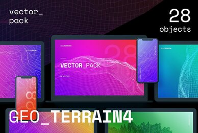 GEO TERRAIN4 Vector Pack