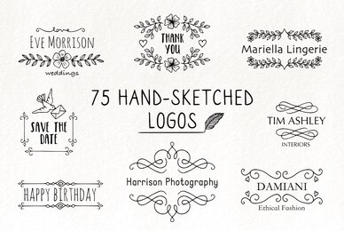 75 Hand Sketched Logos