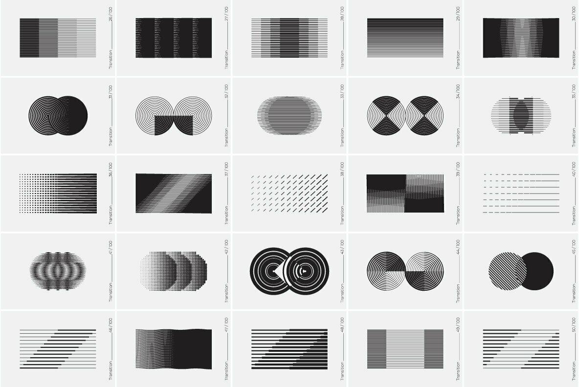 100 Transition Shapes