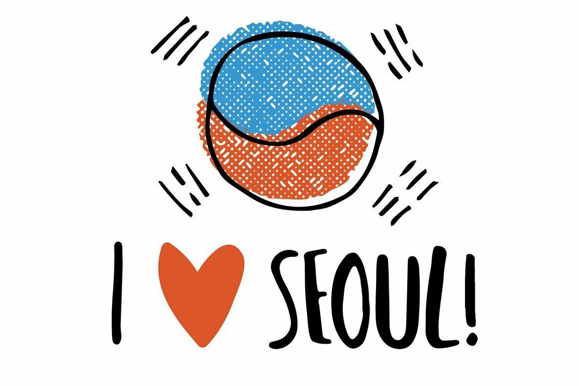 South Korea Illustration Set