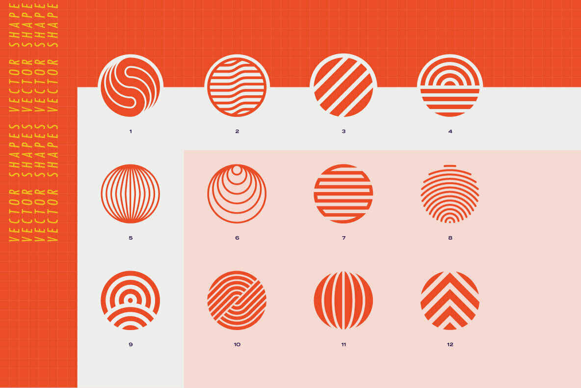 96 Geometric Shapes & Logo Marks Collection VOL 2
